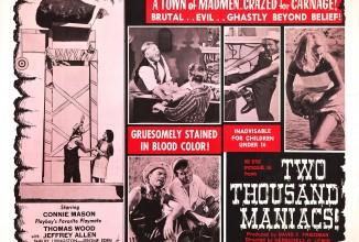 """H. Gordon Lewis """"2000 Maniacs uncut"""" auf der großen Leinwand"""
