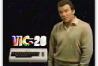 Commodore VC 20 Werbung mit William Shatner