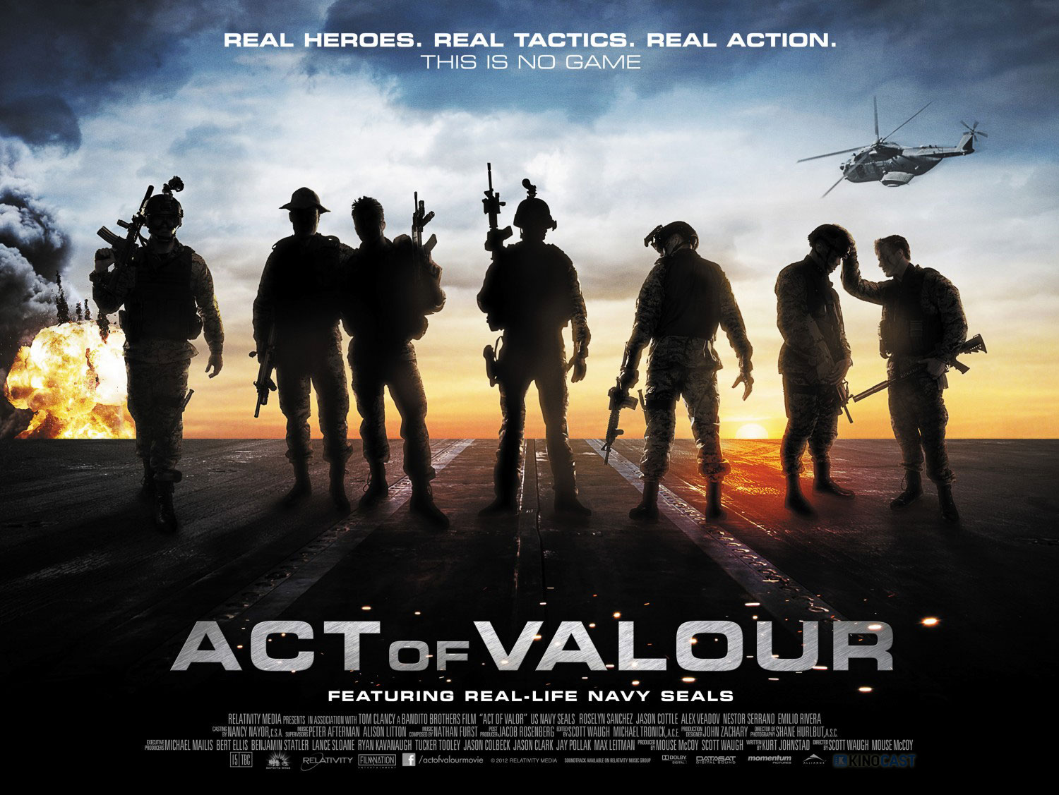 Act of Valor Poster #252 Act of Valor Universum Film Scott Waugh Roselyn Sanchez Nestor Serrano Mike McCoy Marissa Labog Jason Cottle Gonzalo Menendez Emilio Rivera Alex Veadov Ailsa Marshall