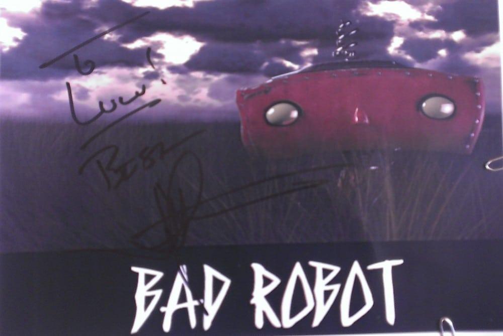Autogramm auf BAD ROBOT Logo