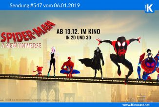 #547: <BR>Spiderman A New Universe, <BR>Dog Days, <BR>Nur Gott kann mich richten, <BR>Ready Player One, <BR>The Commuter
