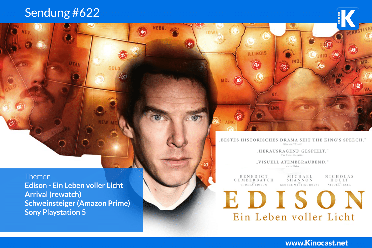 Edison Ein Leben voller Licht Current War Sony Playstation Review Download film german deutsch Podcast